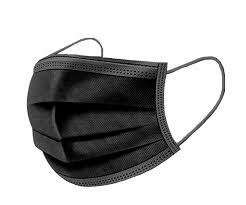 Wegwerp mondkapjes zwart 10 stuks