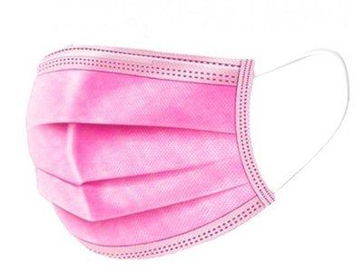 Wegwerp mondkapjes roze 50 stuks