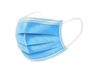 Wegwerp mondkapjes blauw 50 stuks